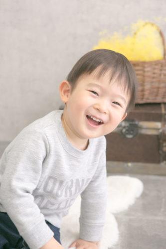 1歳バースディ☆いつもと変わらない自然な表情を残せます
